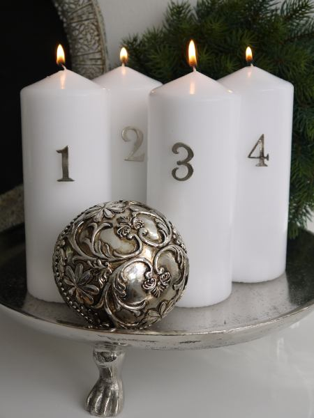 Adventssiffror-slat-silver