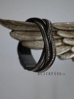 Armband flatat strass