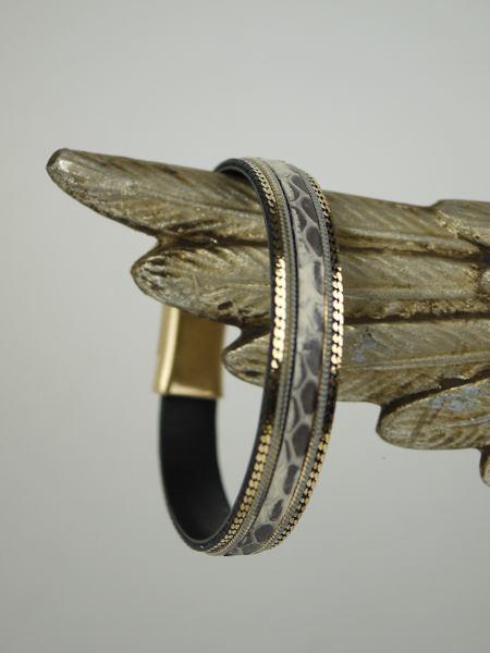 Armband-ormskinn