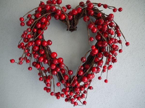 bärkrans rött hjärta