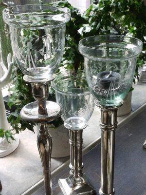 Glaskupa till värmeljus hög kant