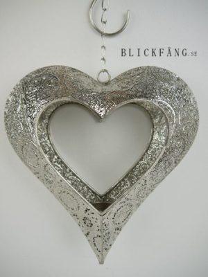 Hänghjärta silver till värmeljus