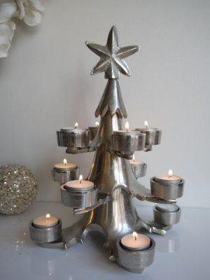 Ruff ljusstake julgran till värmeljus