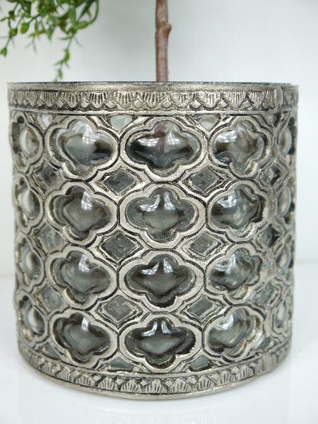 kruka-silver-glas