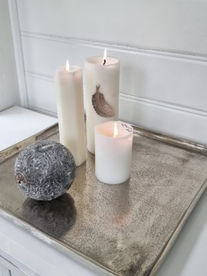 Ljusbricka ruff silver. Besök Blickfång.se
