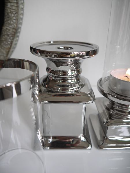 ljuslykta glas silver