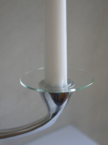 ljusmanschett glas