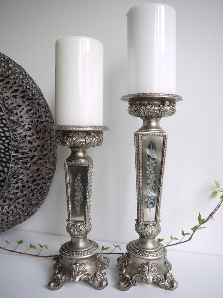 ljusstake antik spegeldekor