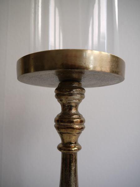 ljusstake glascylinder guld