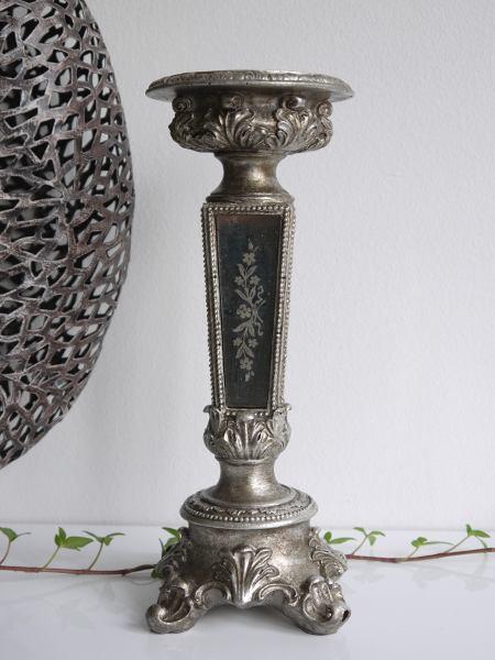 ljusstake spegeldekor antik guld