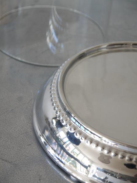 lykta glas silver