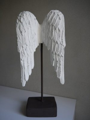 Stora vita änglavingar prydnad. Besök Blickfång.se