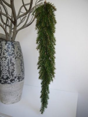 Hangande konstgjord gron gran