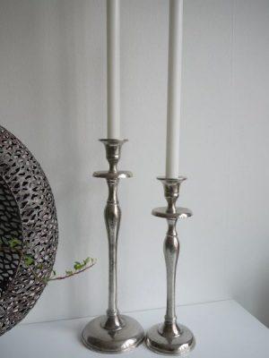 Ljusstake silver stilren design