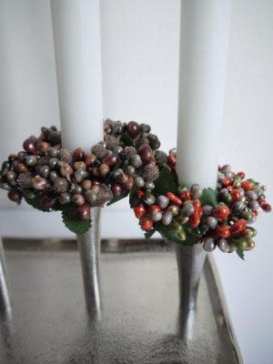 Ljusmanschett brun eller röd. Besök Blickfång.se