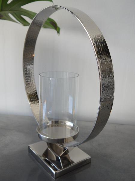 rund lykta silver glas