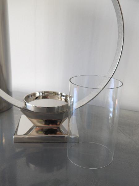 stilren lykta silver glas