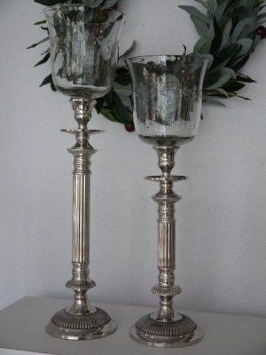 Stor glaskupa till ljusstake. Besök Blickfång.se