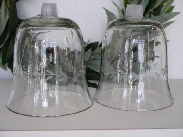 stor glaskupa till ljus