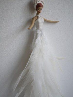 Ballerina med fjäder-klänning - att hänga