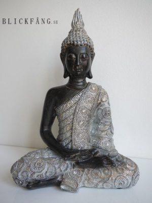 Buddha brun silver prydnadsfigur