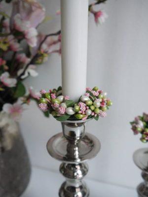 Rosa ljusmanschett