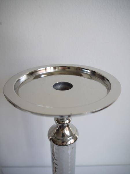 ljusstake-blockljus-silver