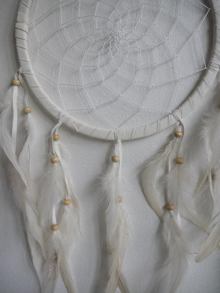 drömfångare vit fjädrar