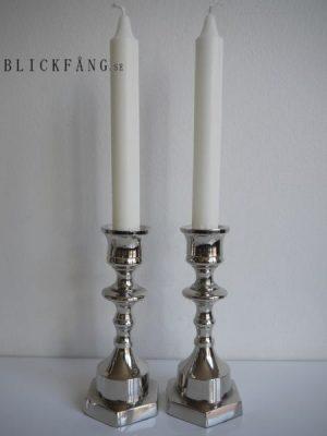 Liten ljusstake silver. Besök lickfüng.se