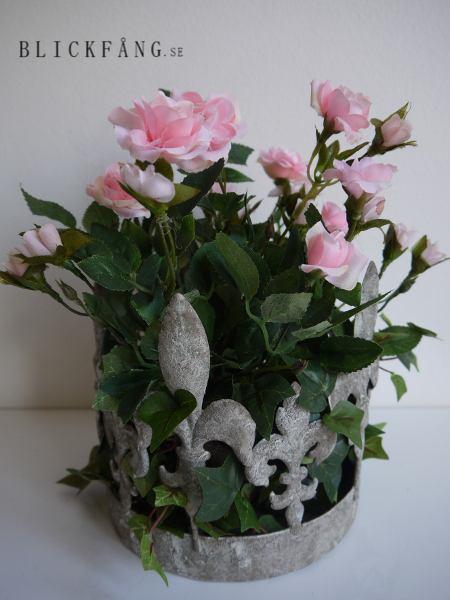 Rosa-konstgjord-ros-i-kruka