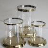Ljuslykta guld med glascylinder. Besök Blickfång.se