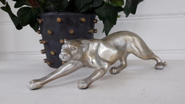 Leopard-prydnadsfigur-i-silver-och-guld-1