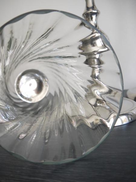 glaskupa på ljusstake