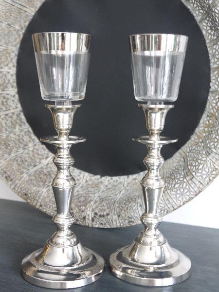 Glaskupa-till-varmeljus-med-silverkantglaskupa silverkant