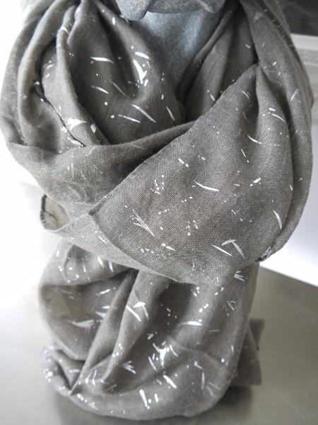 brun grön sjal