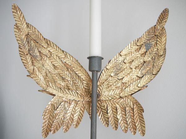 ljusstake guld vingar