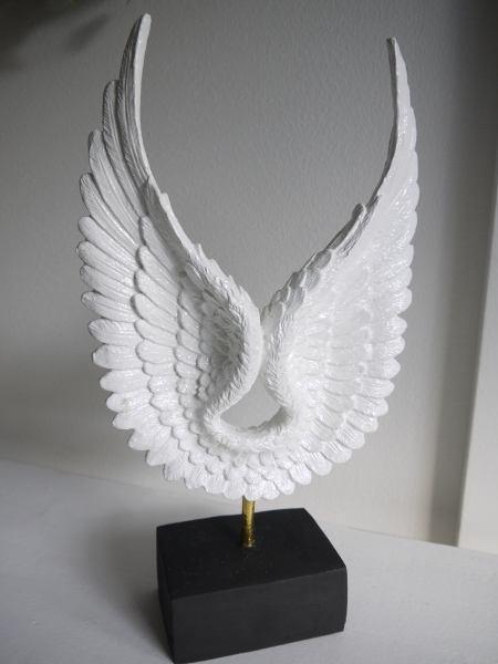 vita änglavingar prydnad