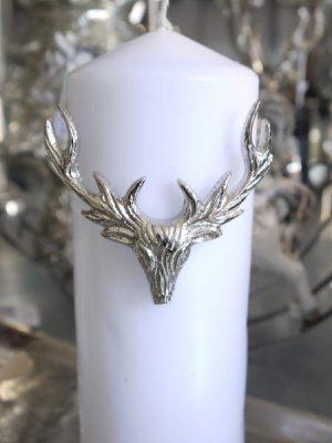 Hjort ljussmycke i silver