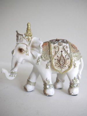 Prydnadsfigur vit elefant