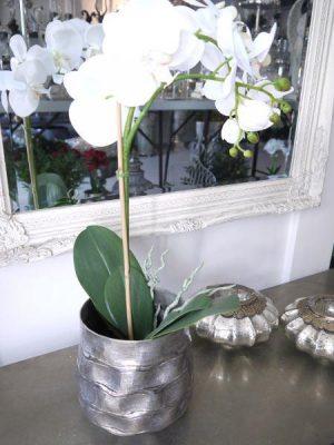 Ytterkruka i silver med dekor