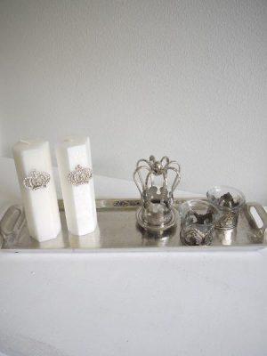 Ruff ljusbricka i silver
