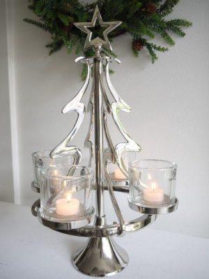 Ljusstake julgran i silver