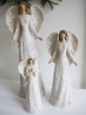 Angel prydnadsfigur spetsklanning