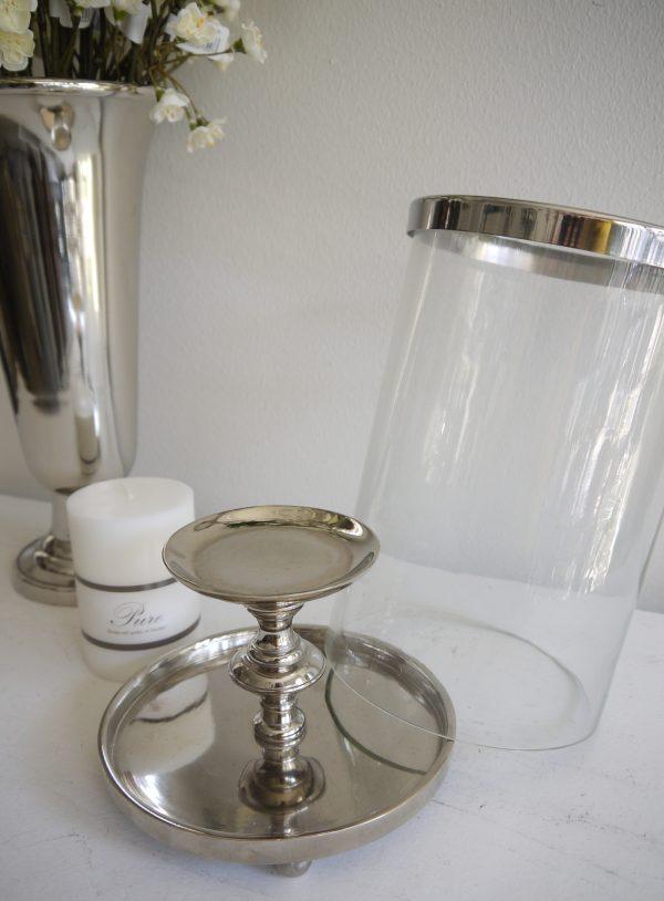 Ljuslykta-silver-med-glascylinder-1
