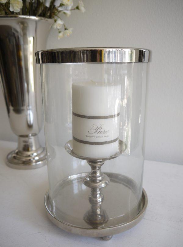 Ljuslykta-silver-med-glascylinder-2