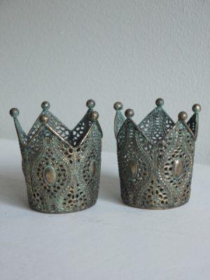 Krona halmonster i metall
