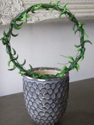 Senecio konstgjord gron vaxt på bage