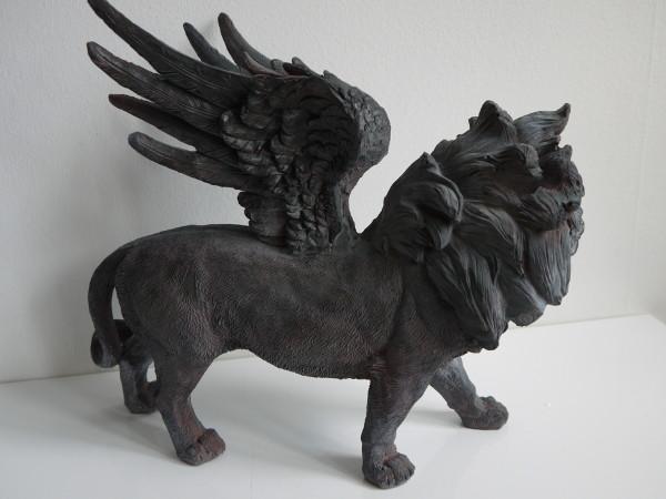 prydnad svart lejon