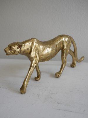 Leopard prydnad i guld. Besök Blickfång.se