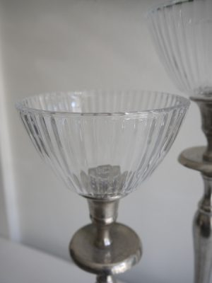 Stor glaskupa i klarglas till värmeljus